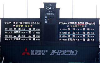 マスターズ甲子園2018 第15回大会組合わせ